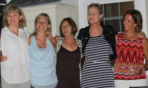 Carol Cormier, Diane Legg, Ann Campanella, Linnea Duff, Liz Morris photo by Billie McLane