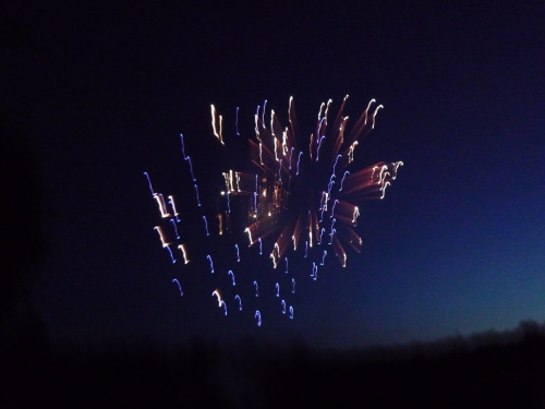 There's an art to capturing fireworks, and I I've not mastered it.